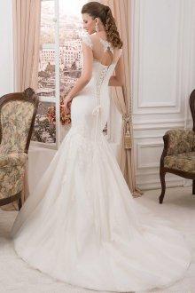 Свадебное платье рыбка с корсетом