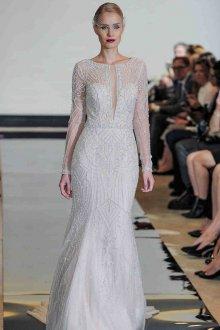 Свадебное платье рыбка с кристаллами