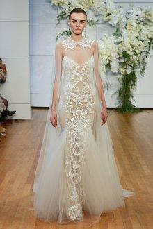 Свадебное платье рыбка из кружева