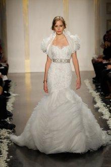 Свадебное платье рыбка многослойное