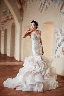 Свадебное платье рыбка с оборками