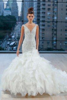 Свадебное платье рыбка пышное открытое