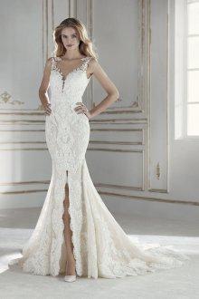 Свадебное платье рыбка с разрезом