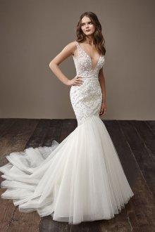 Свадебное платье рыбка стильное
