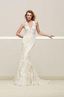 Свадебное платье рыбка винтажное