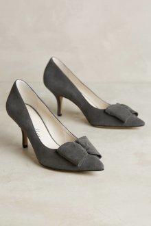Серые туфли с бантиком