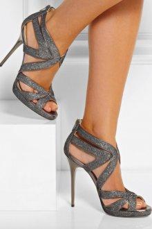 Серые туфли с блестками
