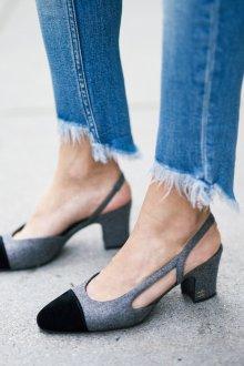 Серые туфли Chanel