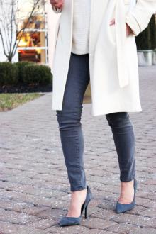 Серые туфли с джинсами