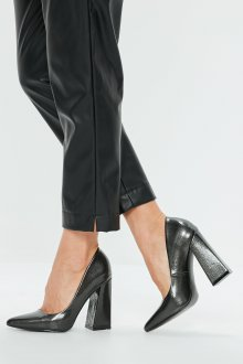 Серые туфли из кожи