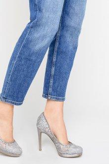 Серые туфли кружевные