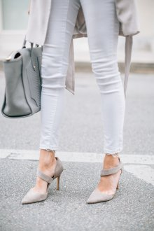 Серые туфли модные