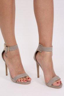 Серые туфли открытые