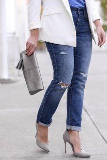 Серые туфли с пиджаком