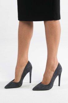 Серые туфли строгие
