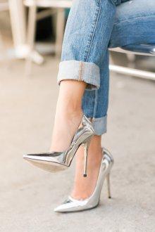 Серые туфли на шпильке тренды