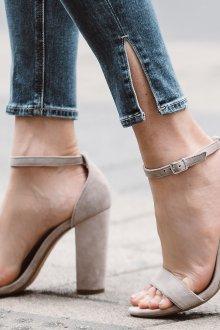 Серые туфли весенние
