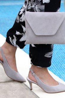 Серые туфли замшевые киттен хил
