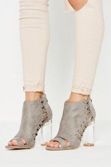 Серые туфли замшевые