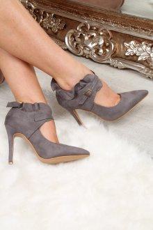 Серые туфли из замши