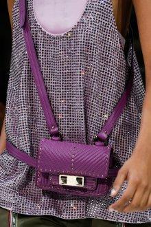 Сумка на пояс фиолетовая