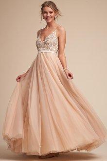 Свадебное платье айвори в стиле ампир