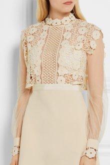 Свадебное платье айвори ажурное