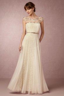 Свадебное платье айвори с бисером