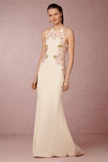 Свадебное платье айвори с вышивкой из бисера и бусин