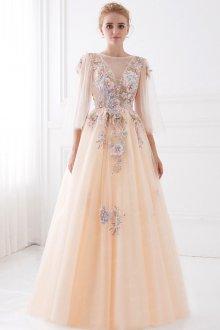 Свадебное платье айвори цветочное