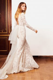 Свадебное платье айвори с длинным рукавом