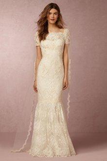 Свадебное платье айвори с фатой