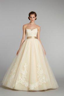 Свадебное платье айвори с поясом