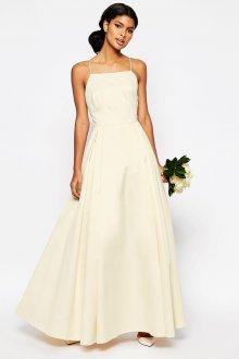 Свадебное платье айвори простого кроя