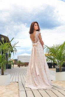Свадебное платье айвори розовое