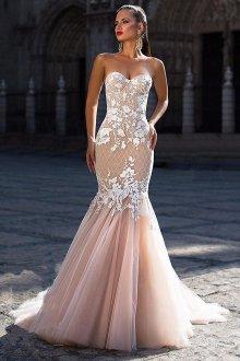 Свадебное платье айвори русалка