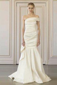 Свадебное платье айвори со складками