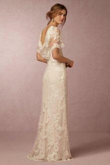 Свадебное платье айвори с винтажным кружевом