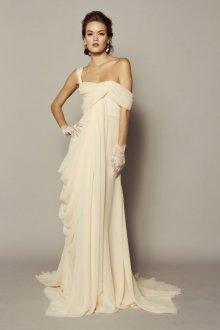 Свадебное платье айвори с воланами