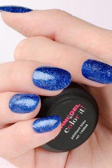 Синий маникюр на миндальные ногти