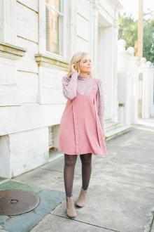 Сарафан для офиса розовый