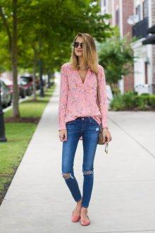 Блузка с цветами пижамная