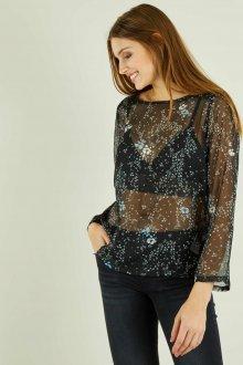 Блузка с цветами прозрачная