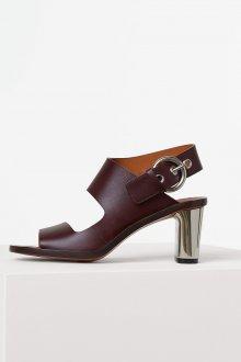 Бордовые туфли асимметричные