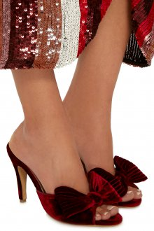 Бордовые туфли с бантиком