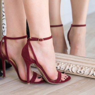 Бордовые туфли босоножки