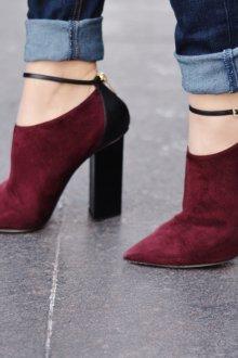 Бордово-черные туфли