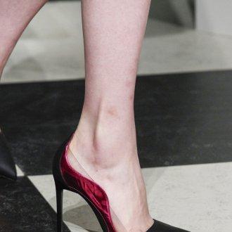 Бордовые туфли дизайн