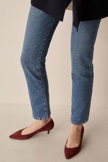 Бордовые туфли киттен хил