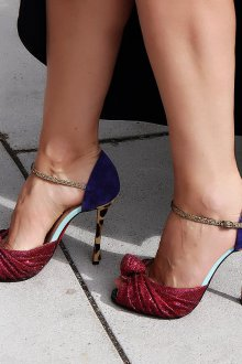 Бордовые туфли комбинированные